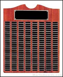 Plaque - Perpetual Plaque w/Black Brass Awards Achievement Recognition