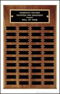Perpetual Plaque - 40 Black Brass Plates