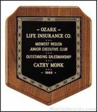 Plaque - American Walnut Camelot Style Plaques