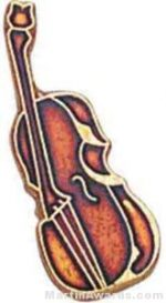 "3/4"" Cello Or Bass Lapel Pin"