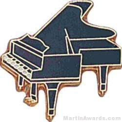 3/4″ Piano Lapel Pin 1