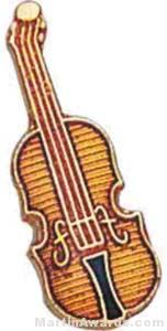 3/4″ Violin Lapel Pin 1