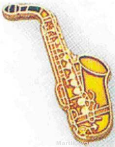 3/4″ Saxophone Lapel Pin 1