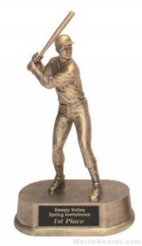 Male Baseball Gold Resin Trophy
