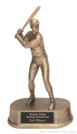 Male Baseball Gold Resin Trophy 1