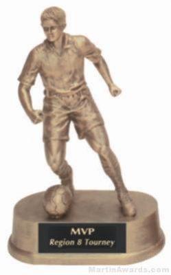 Male Soccer Gold Resin Trophy