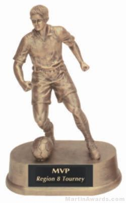 Male Soccer Gold Resin Trophy