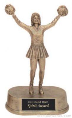 Cheerleader Gold Resin Trophy