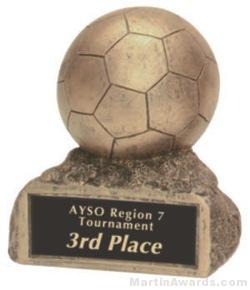 Soccer On Base Gold Resin Trophy 1
