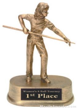 Female Pool Gold Resin Trophies 1