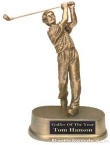 Golf Resin Trophies & Engraving Plate