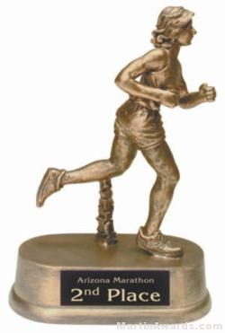 Female Track Gold Resin Trophies 1