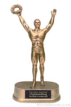 Male Victory Gold Resin Trophies 1