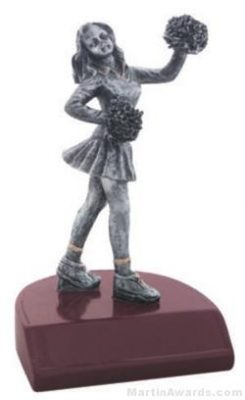 Cheerleader Silver Resin Trophy