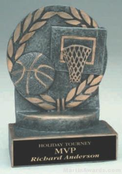 Basketball Wreath Resin Trophy 1