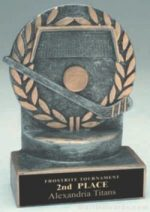 Hockey Wreath Resin Trophy