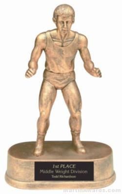 Wrestler Gold Resin Trophy 1