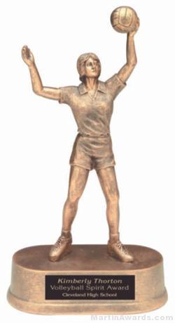 Female Volleyball Gold Resin Trophy 1