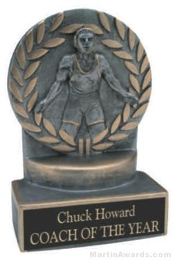 Wrestler Wreath Resin Trophy