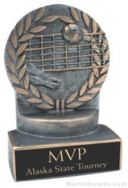 Volleyball Wreath Resin Trophy