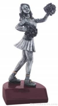 Cheerleader Silver Resin Trophy