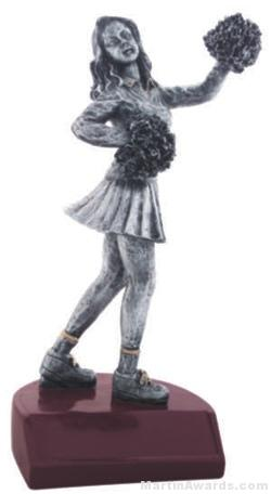 Cheerleader Silver Resin Trophy 1
