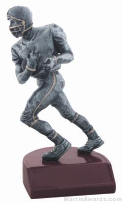 Football Silver Resin Trophy 1