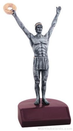 Male Victory Silver Resin Trophies 1