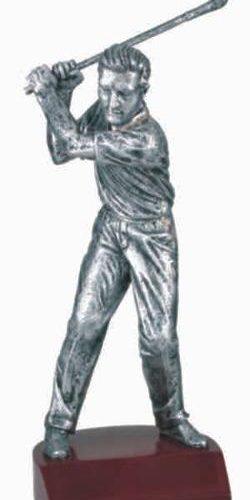 Male Golf Silver Resin Trophy 1