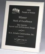 Picture Frame Award - Polished Silver Aluminum Picture Frame Award