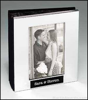 Polished Silver Aluminum Photo Album with 50 Sleeves
