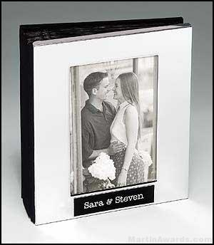 Polished Silver Aluminum Photo Album with 50 Sleeves 1
