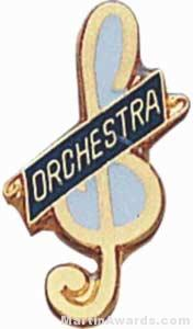 "3/4"" Enameled Orchestra Pin"