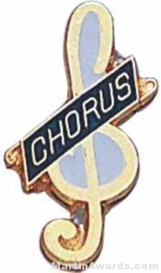 3/4″ Enameled Chorus Pin 1