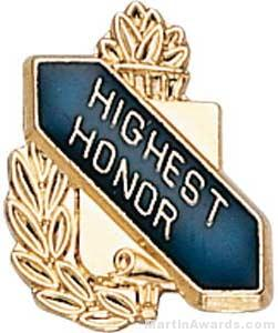 3/8″ Highest Honor School Award Pins 1