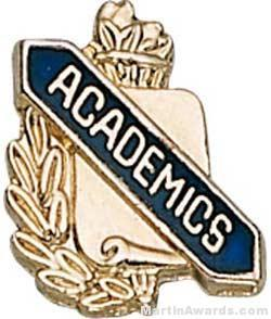 3/8″ Academics Scholastic Award Pin 1