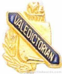 """3/8"""" Valedictorian School Award Pins"""