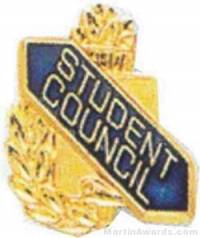 "3/8"" Student Council School Award Pins"