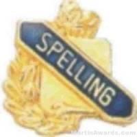 """3/8"""" Spelling School Award Pins"""