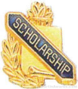 "3/8"" Scholarship School Award Pins"