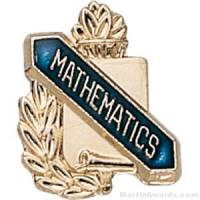 "3/8"" Mathematics Award Pins"