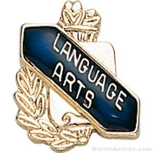 "3/8"" Language Art School Award Pins"