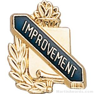 3/8″ Improvement School Award Pins 1