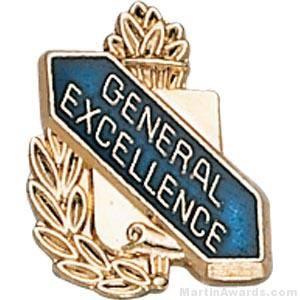 "3/8"" General Excellence School Award Pins"