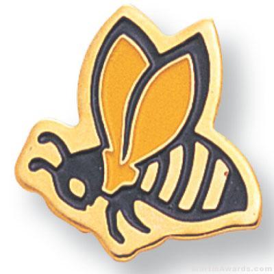 """3/4"""" Hornet Mascot Lapel Pin"""