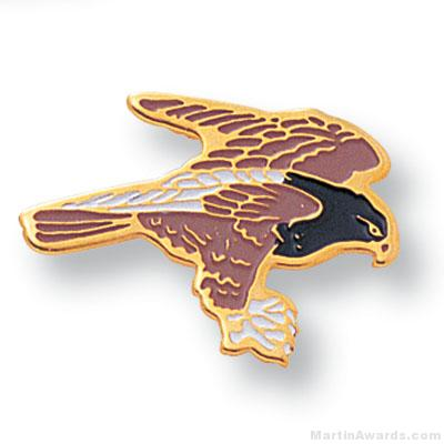 11/16″ Hawk Mascot Lapel Pin 1