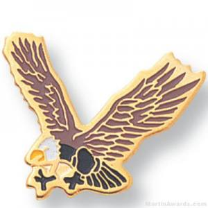 "3/4"" Eagle Mascot Lapel Pin"