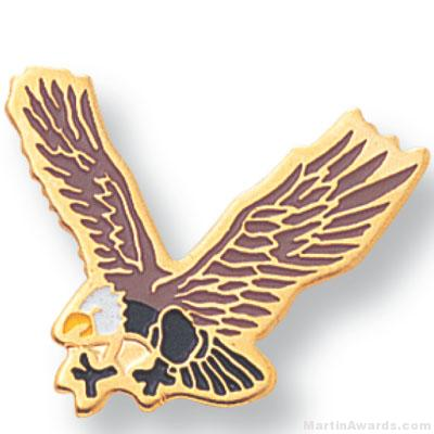 3/4″ Eagle Mascot Lapel Pin 1