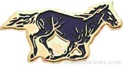 13/16″ Enameled Mustang Mascot Pin 1