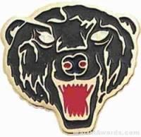 """7/8"""" Enameled Bear Mascot Pin"""